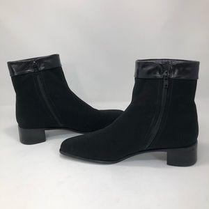 Stuart Weitzman Leather Trim Gore Tex Booties-Wide